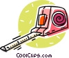 Vector Clip Art graphic  of a measuring tape