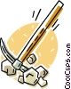 Vector Clipart illustration  of a pick axe