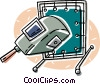 Vector Clipart graphic  of a welding equipment