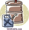Vector Clipart illustration  of a gas can