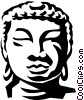 Vector Clipart picture  of an Asian statue