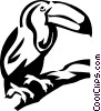 Vector Clipart image  of a toucan