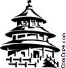 Vector Clip Art picture  of a Temple of Heaven