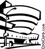 Vector Clipart image  of a Guggenheim Museum New York