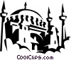 Blue Mosque, Istanbul, Turkey Vector Clipart picture