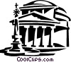 pantheon, Rome Italy Vector Clipart illustration
