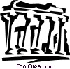 Acropolis in Greece Vector Clipart illustration