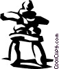Vector Clip Art picture  of a Inuit rock symbol