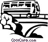 Vector Clipart graphic  of a touring bus