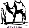 Vector Clip Art graphic  of a camel