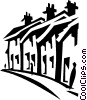 town houses Vector Clip Art picture