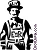 Vector Clip Art graphic  of a beefeater