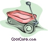 Vector Clipart illustration  of a little red wagon