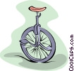 Vector Clipart illustration  of a unicycle