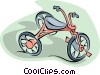 Vector Clip Art picture  of a tricycle