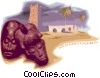 Mauritania postcard design Vector Clipart graphic