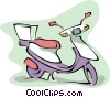 Vector Clipart graphic  of a motor scooter