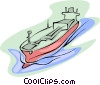 Vector Clipart image  of a oil tanker