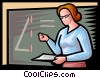 Vector Clipart graphic  of a teacher in math class