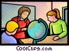 Vector Clipart graphic  of a students in geography class