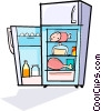 Vector Clipart graphic  of a refrigerator