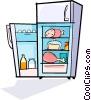 refrigerator Vector Clip Art image