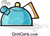 Vector Clip Art picture  of a kettle