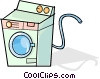 Vector Clip Art image  of a dryer