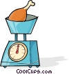 Vector Clipart image  of a food scale