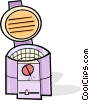 Vector Clip Art picture  of a deep fryer