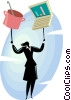 woman balancing career and home life Vector Clipart illustration