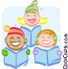 Christmas carolers Vector Clipart graphic