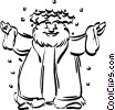 Vector Clipart image  of a father Christmas