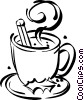 Vector Clip Art graphic  of a Cup of hot chocolate