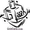 Vector Clip Art picture  of a dreidels