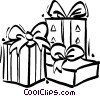 Vector Clipart picture  of a Christmas presents