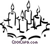 candles Vector Clipart illustration
