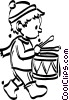 little drummer boy Vector Clipart illustration