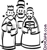 Vector Clip Art graphic  of a three wise men