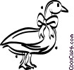 Vector Clipart graphic  of a mother goose