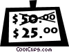 Vector Clipart image  of a sales tag