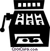 Vector Clipart graphic  of a slot machine
