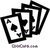 playing cards Vector Clipart illustration