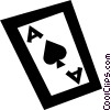 ace of spades Vector Clip Art picture