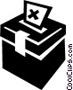 Vector Clipart graphic  of a Ballot box