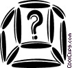 Vector Clipart image  of a computer key question mark