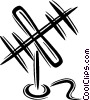 TV antenna Vector Clipart image