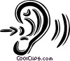 Vector Clipart graphic  of a human ear/hearing