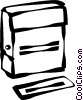 Vector Clip Art image  of a rubber stamp