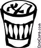 Vector Clipart graphic  of a garbage/trash cans